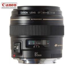 Lente Canon EF 85mm F/1.8 USM - Novo, Garantia e NFe
