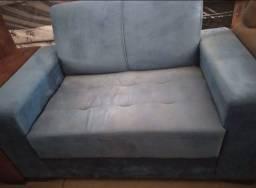 Título do anúncio: Sofá azul cinsa 2lugar novo
