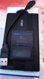 Hd e cartao de memória para playstation 2