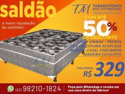 Título do anúncio: Preço de Fábrica!! Unibox Casal Ortopédica 5CM Espuma! Frete Grátis!!