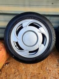 Jogo rodas aro 15 orbital com pneus 195 55 ( parcelo 12x sem juros cartão )