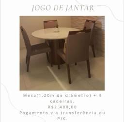 Título do anúncio: Conjunto de mesa de jantar redonda