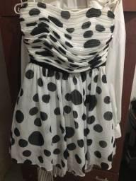 Título do anúncio: Vendo vestido da marca Guess poá