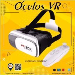 Título do anúncio: Óculos 3d Realidade Virtual Vr Box Com Controle (Entregamos)