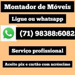 Título do anúncio: Montador de móveis (71) 98388:6082