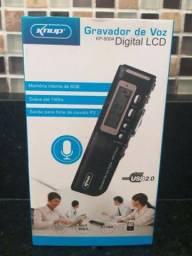 Gravador de voz Kp-8004 Digital Lcd Usb 2.0