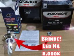 Título do anúncio: Bateria Cg Es/150/160/titan Es/Biz/Nxr/Bros/Fan/ 5ah +brinde