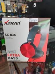 Fone Com Atendimento Extra Bass Xtrad lc-834
