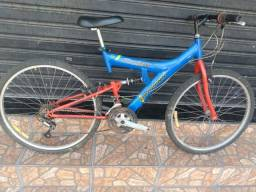 Título do anúncio: Bicicleta aro 26 com 21 marchas e suspensão no quadro