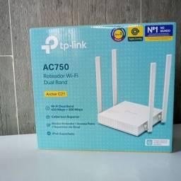 Título do anúncio: Novo - Roteador TP-Link Archer C21 4 Antenas, Repetidor - 1