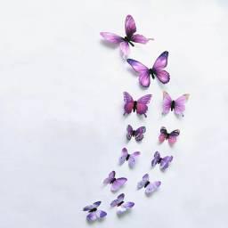 Kit 12 borboletas 3d parede adesivo decoracao TAXA DE ENTREGA DE 15 a 20