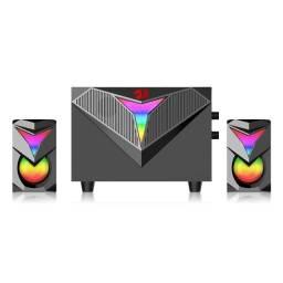 Título do anúncio: Caixa de Som Gamer e Subwoofer Redragon Toccata, 11W RMS, RGB, USB, preto - GS700