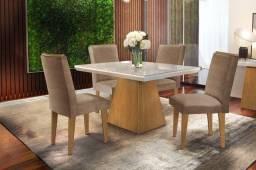 Título do anúncio: Mesa de jantar 04 cadeira Em MDF + vidro