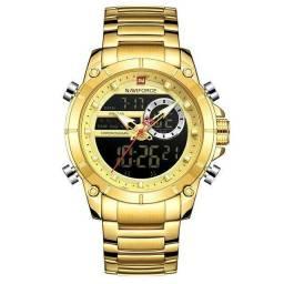 Título do anúncio: Relógio Masculino Naviforce Dourado