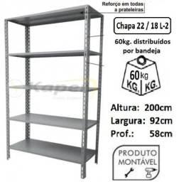 Título do anúncio: Prateleira de Aço prof. 58cm ( Industrial ) promoção