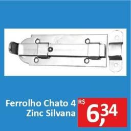 Ferrolho Chato 4 Zinc - Silvana - Promoção R$ 6,34
