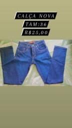 Calças e bermudas jeans
