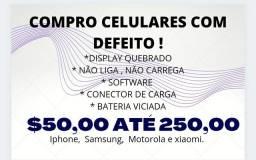 C.O.M.P.R.O CELULARES COM DEFEITO. ( LEIA )