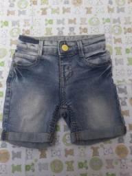 Bermuda jeans infantil