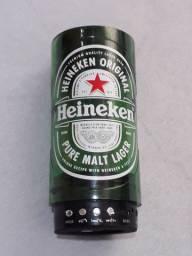 Caixinha de som heineken garrafa 600ml