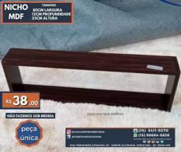 Título do anúncio: Peça Única Nicho LT0106 de MDF Tamanho 80cm x 12cm x 25cm