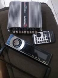 Rádio pionner golfinho modelo DEH-P7000BT USB bluetooth 6 saída rca top + Taramps ts400