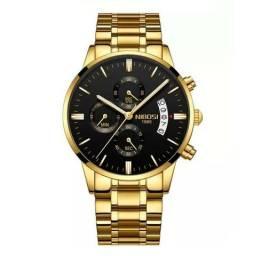 Relógio masculino Nibosi Todo Funcional a prova d'agua