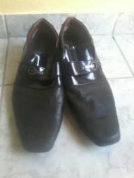 Sapato social seminovo T. 44 preto