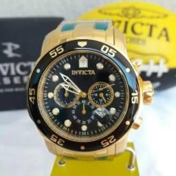 Relógio Invicta Pro diver 0073 Original Banhado a Ouro 18k