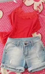 Short 36 + blusa P