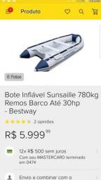 Barco inflável barato 3000mil - 2018