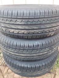 3 pneus 195/60 r 15 novo barato