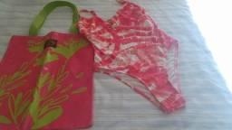 Maiô P e bolsa rosa NOVOS !!