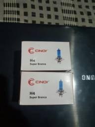Super branca h4.estilo xenon 8500k.grátis pingo led
