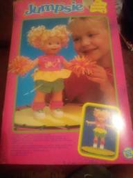 """Boneca Jumpsie """"Eu pulo de verdade"""" Toy Biz Colecionador Menina Criança"""