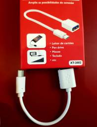 Conector Cabo OTG Tipo C Type-C
