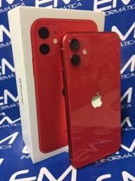 Disponivel Hoje! 11 64GB Vermelho - Garantia Apple - Somos Loja