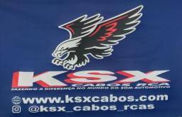 Som automotivo ksx cabos Rca.