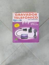 Gravador telefônico 1 linha