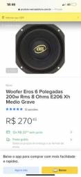 4 Medios Eros MG-206 6 polegadas novos comprar usado  Manaus