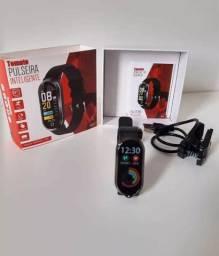 Relógio Fit Pulseira Inteligente Bluetooth Tomate Mtr-33
