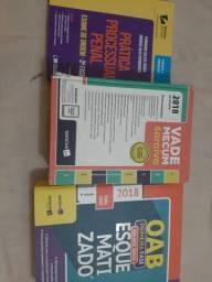 Livros de Direito, vade mecum 2018 e material OAB penal 2018
