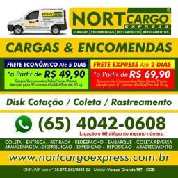 Envio de Racoes e Cargas Cuiaba x Pocone R$ 69.90