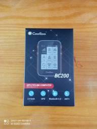 Ciclocomputador Coospo com cinta cardíaca e sensor de cadência