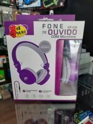 Fone de Ouvido Com Fio e Microfone KP 428 Tamanho Ajustável - Knup