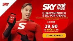 Sky pré pago no boleto