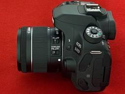 Título do anúncio: Canon 80D + Wi-Fi + Tela Touch + Lente 18-55mm IS STM com Estabilizador de Imagem