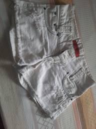 Título do anúncio: Vendo short jeans claro Novo/veste 36