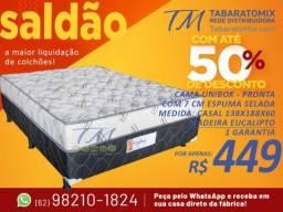 Título do anúncio: Unibox Casal 7cm Espuma Selada! Entrega Grátis ! Parcelamos Sem Juros!!