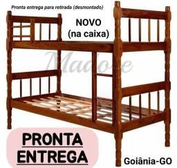 Título do anúncio: Beliche Nova Madeira Bicama c/ escada Milão Torneada Cor Imbuia Madore Torneado